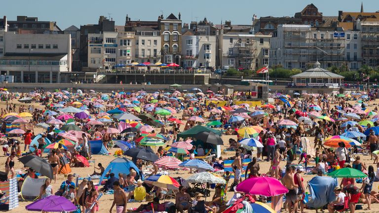 Margate was also a hotspot for sunseekers