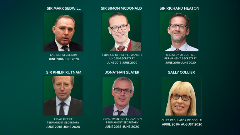 A series of senior civil servants have departed over recent months