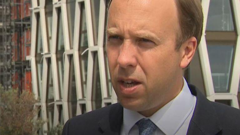 Matt Hancock justifies appointment of new institute's head