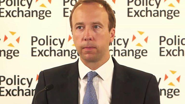 Health Secretary Matt Hancock MP