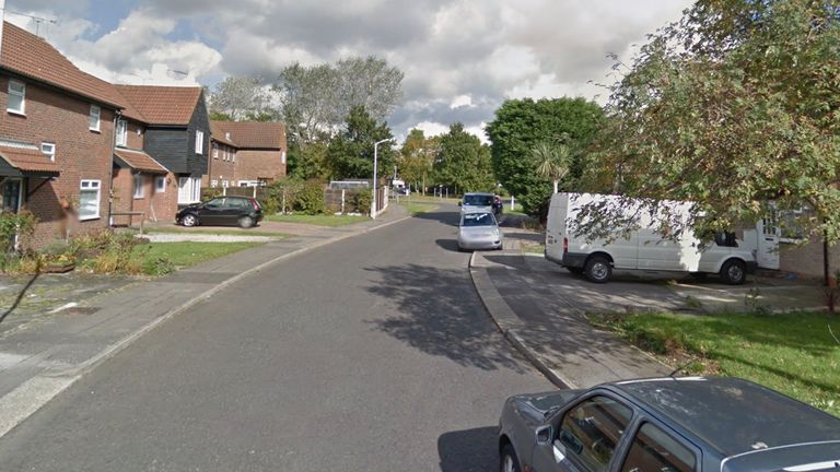 The incident happened in Mayfair Avenue in Pitsea, Essex. Pic: Google Street View