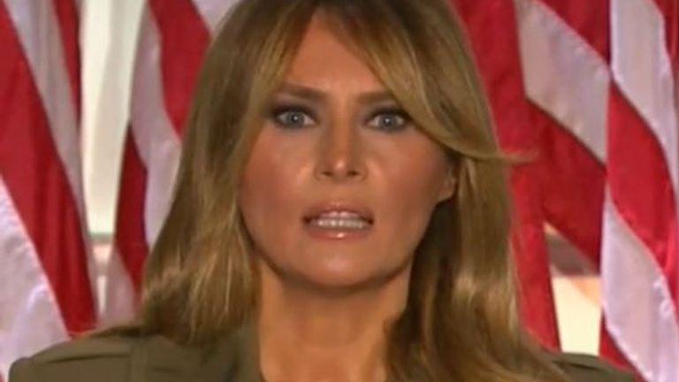 Melania Trump calls for calm in the US