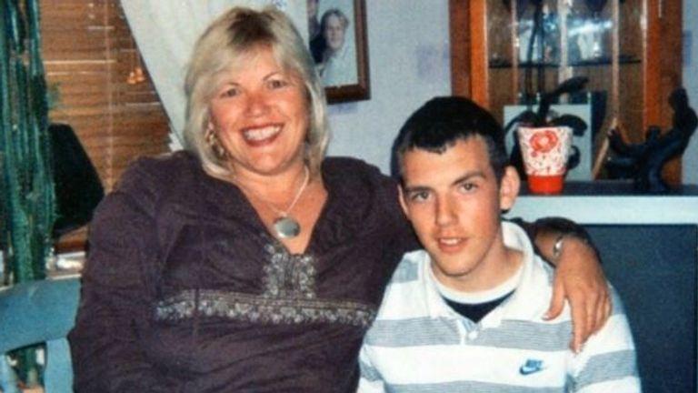 Melanie Leahy and her son Matthew Leahy