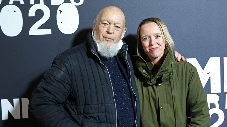 Michael Eavis and Emily Eavis attend The NME Awards 2020 at the O2 Academy Brixton on February 12, 2020 in London