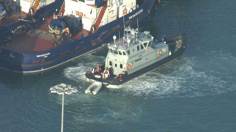 Migrants crossing to Dover