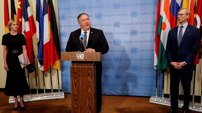 Mike Pompeo visited the UN's headquarters in New York