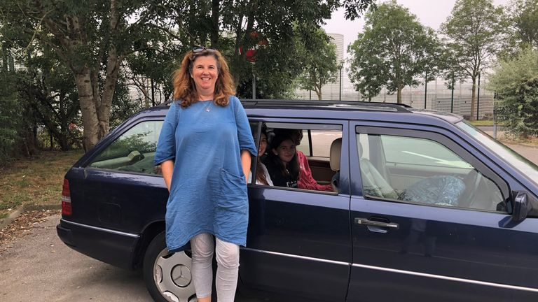 Miranda Jessop has driven back to Calais with her daughters