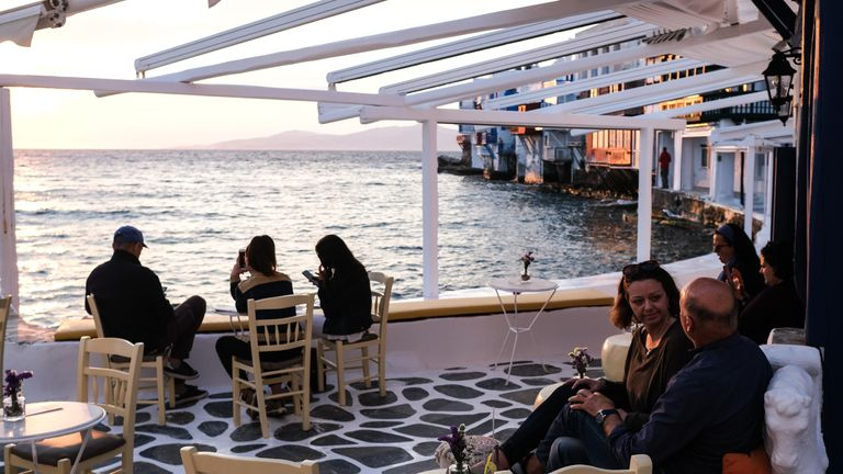Mykonos is a tourist hotspot, attracting around two million visitors every summer