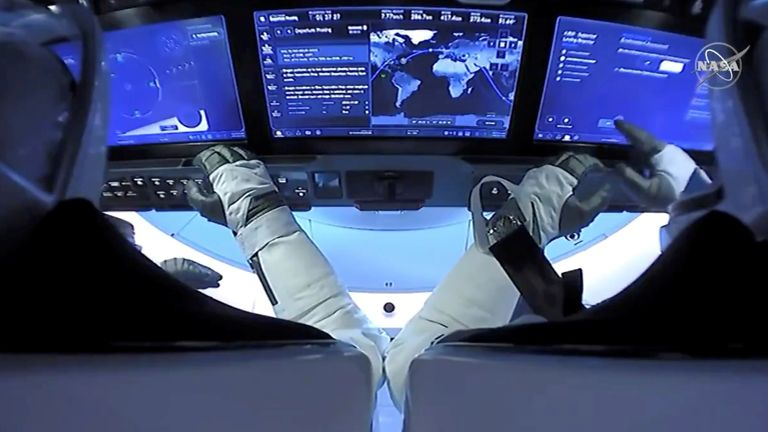 The spacecraft can be controlled using touchscreens