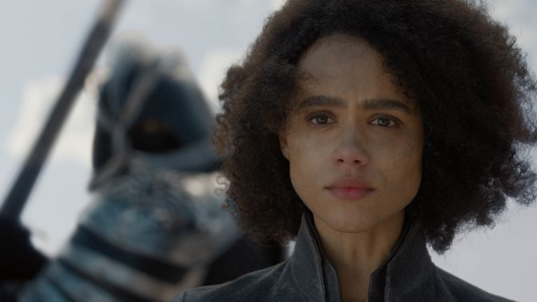 Nathalie Emmanuel as Missandei in Game Of Thrones. Pic: Sky/HBO