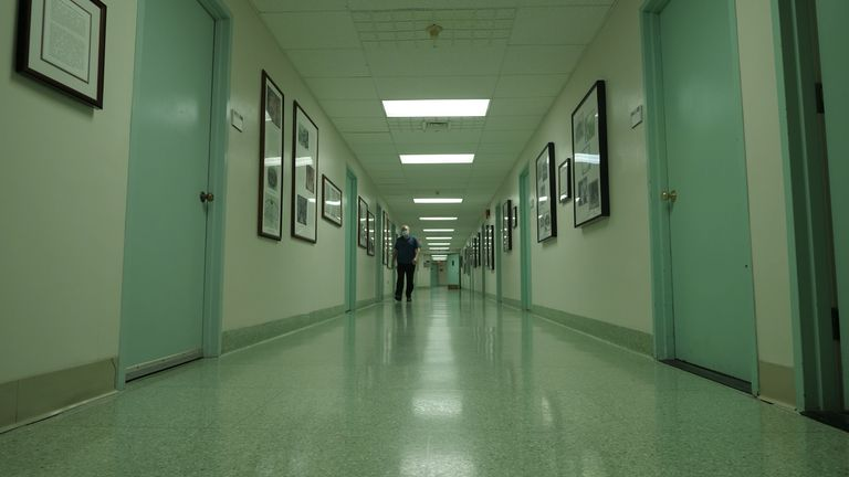Sky News visited the St Vincent's Hospital in Westchester, New York