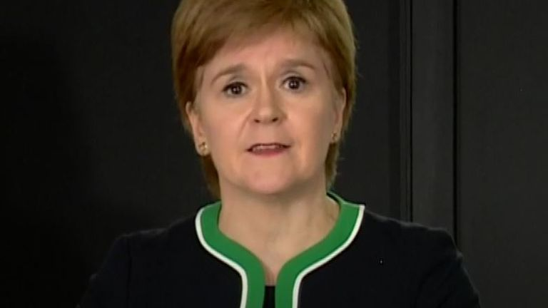 Nicola Sturgeon shows yellow card to Scottish football