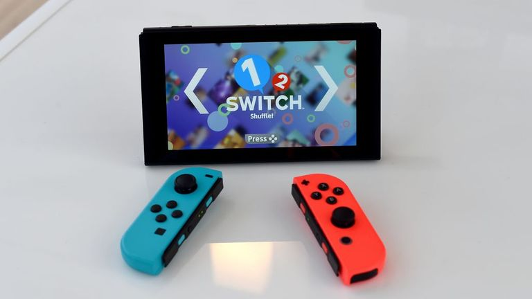 The Nintendo Switch on display as Nintendo unveils it at a pop-up Living room in Madison Square Park in New York on March 3, 2017. Nintendo Switch is a first-of-its-kind video game system where you can play at home and take it on-the-go. / AFP PHOTO / TIMOTHY A. CLARY (Photo credit should read TIMOTHY A. CLARY/AFP via Getty Images)