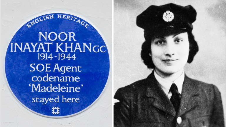 Noor Inayat Khan will be honoured with a blue plaque in London. Pic: Commonwealth War Graves Commission
