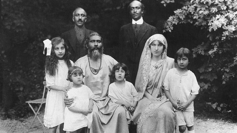 Khan (L) and her family moved to the UK in 1914. Pic: Shrabani Basu
