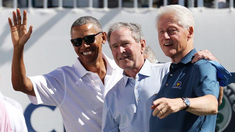 Barack Obama, George W. Bush and Bill Clinton in 2017