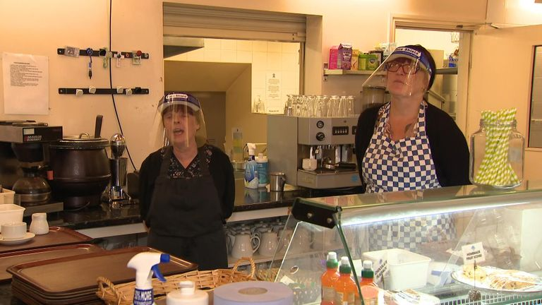 Cafe in Oldham coping with restrictions