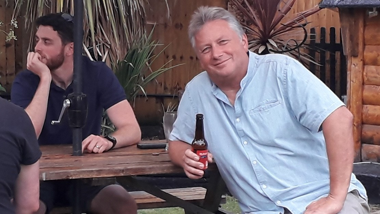 Phil Harper with his son, PC Andrew Harper