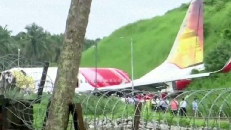 Scene of fatal plane crash in Kerala