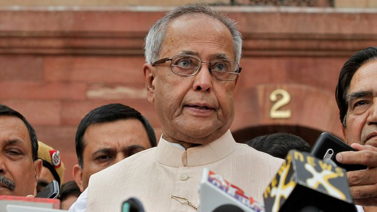 Pranab Mukherjee was president between 2012 and 2017