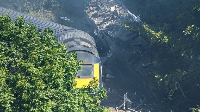 Three people have died after a passenger train derailed in northeast Scotland