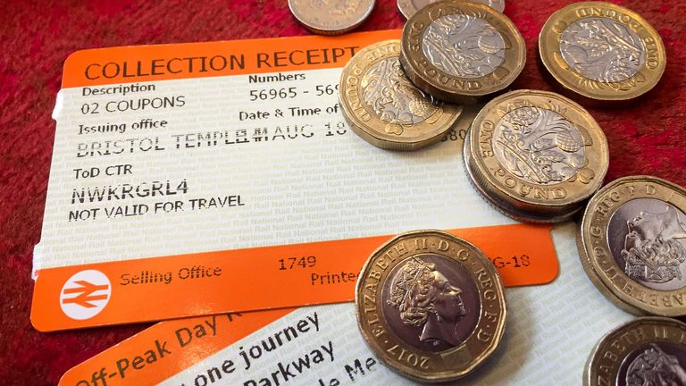 File photo dated 14/08/18 of rail tickets. Rail commuters face an increase in season ticket prices of around 1% in January despite people being urged to return to workplaces, economic forecasts show.