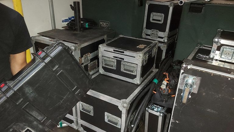 Essex Police seized equipment worth thousands of pounds from an event. Pic: Essex Police