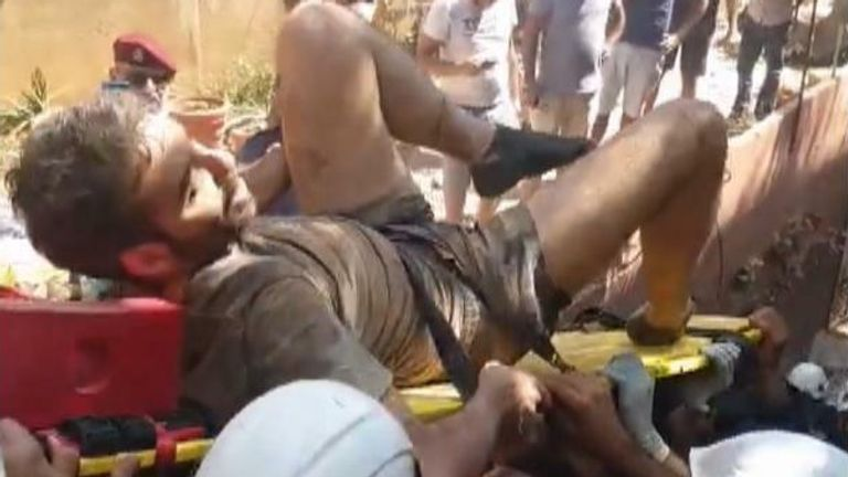 Man rescued from rubble in Beirut