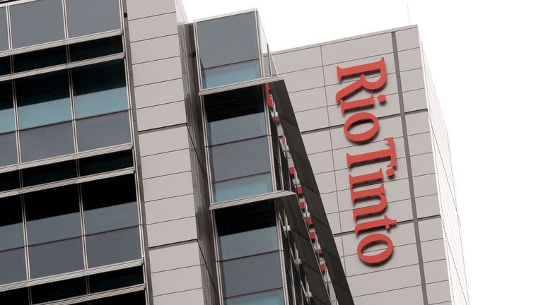 A Rio Tinto sign adorns their building in central Brisbane on December 5, 2011