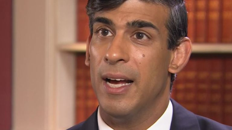 Rishi Sunak tells Ed Conway that the government is dealing with an unprecedented situation in coronavirus