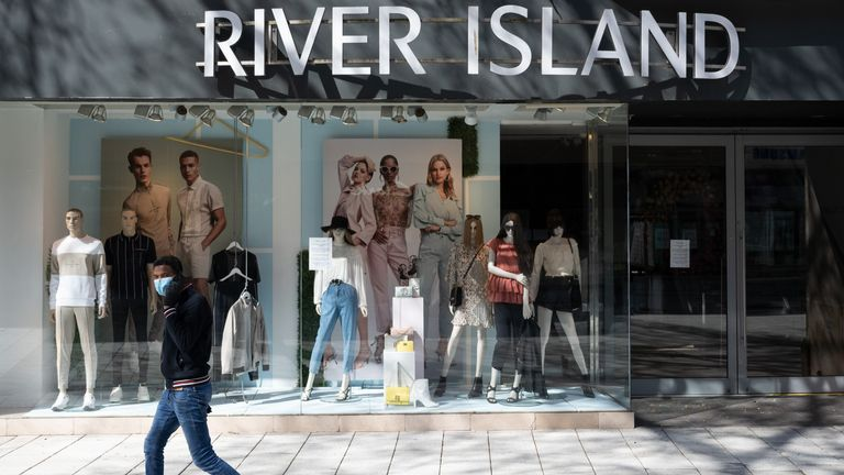 A general view of a River Island store