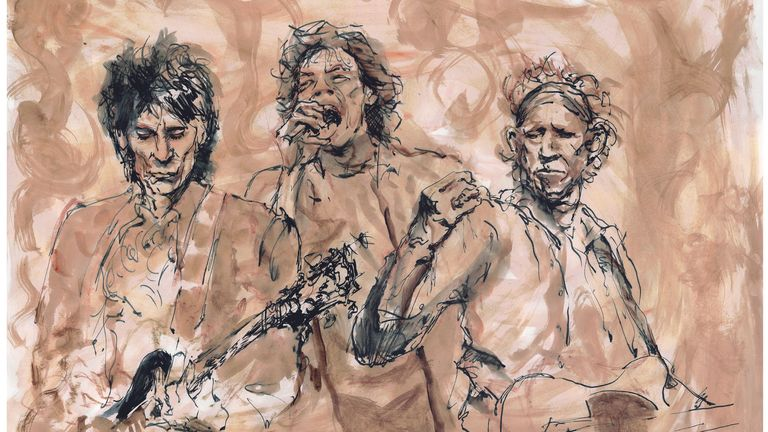 Ronnie Wood, Mick Jagger and Keith Richards (L-R)