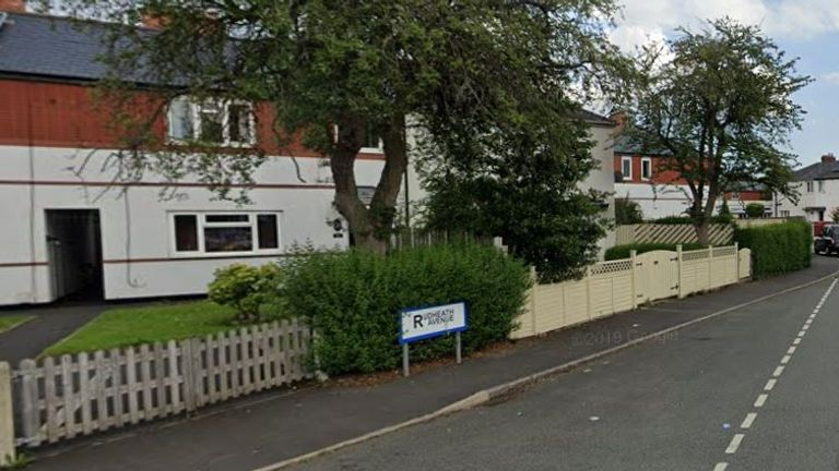 The victim was attacked in Rudheath Avenue, Withington. Pic: Google Street View