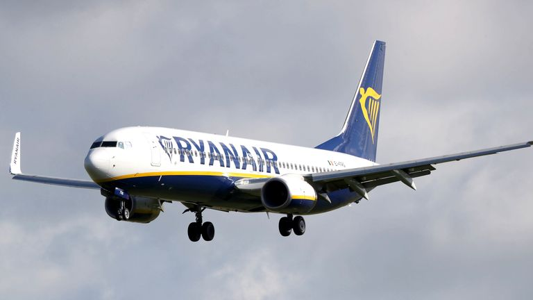"File photo dated 04/10/17 of a Ryanair plane. Ryanair said it suffered the ""most challenging"" quarter in its 35-year history as it reported a loss of 185 million euro (..168 million). PA Photo. Issue date: Monday July 27, 2020. The low-cost airline, like its competitors, was forced to ground its fleet as Covid-19 wreaked havoc on timetables with travel bans and lockdowns introduced worldwide. See PA story CITY Ryanair. Photo credit should read: Niall Carson/PA Wire"