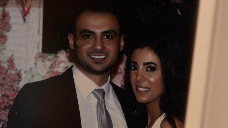 Sahar Faris with her fiance,