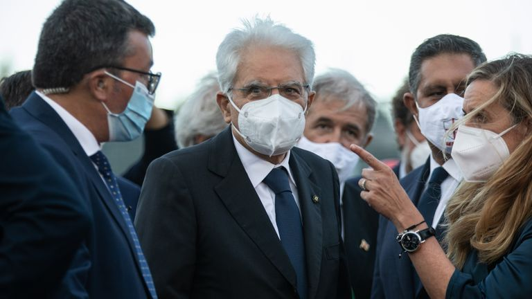 Italy's president Sergio Mattarella inaugurated the replacement bridge