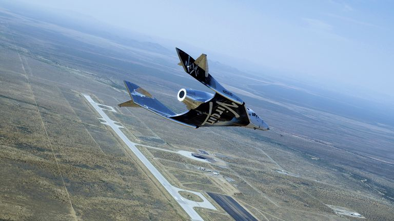 Virgin's SpaceshipTwo is hoping to soon take passengers to the edge of space. Pic: Virgin Galactic