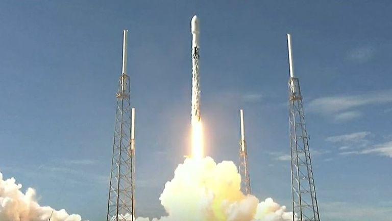 SpaceX sends satellites into orbit