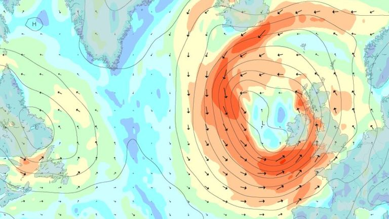 Gusts will start building up to their strongest early on Friday morning. Pic: Magic Seaweed