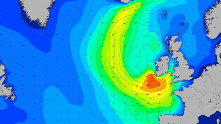 Large swells will come in from the southwest on Friday morning. Pic: Magic Seaweed