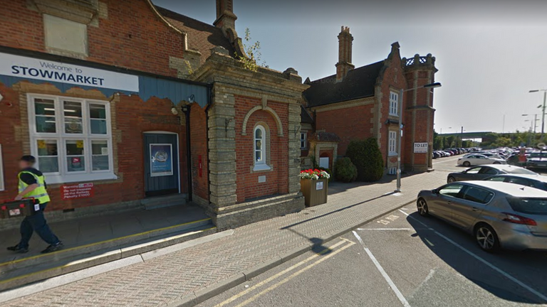 The incident happened near Stowmarket station. Pic: Google Street View