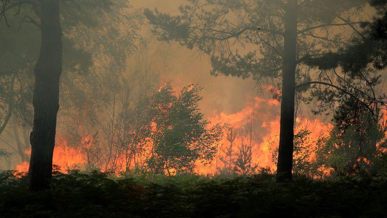 The fire hit Wentworth Golf Club