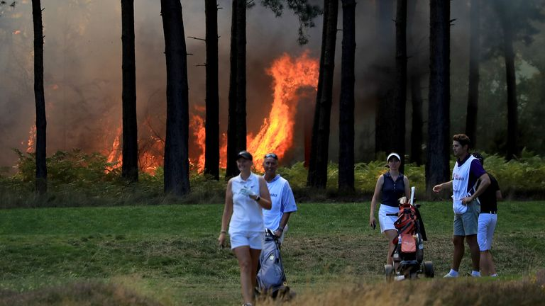 The fire hit Wentworth Golf Club