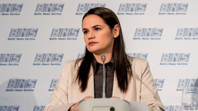 Svetlana Tikhanovskaya speaks for the first time in public since fleeing Belarus