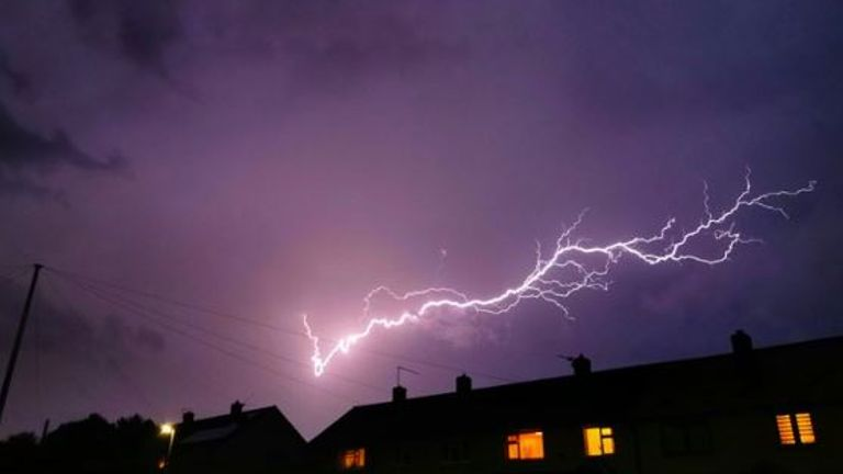 Lightning seen over Telford on Wednesday evening (Pic: @Liam_Ball92)