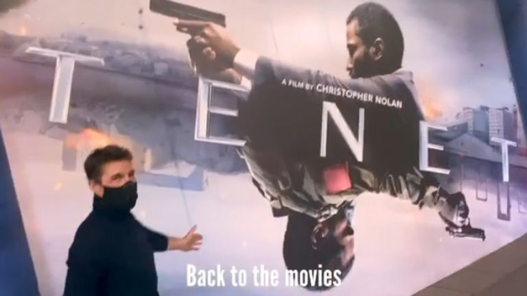Tom Cruise welcomes film fans back to the movies. Pic: Instagram/@TomCruise