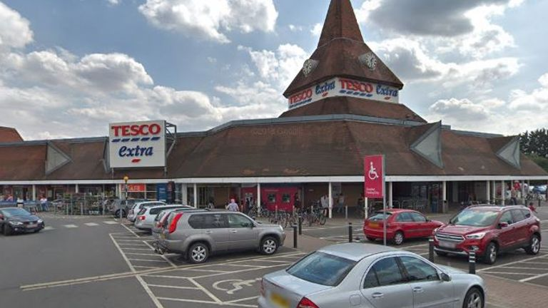Employees at a Tesco Extra in Swindon have been infected with coronavirus. Pic: Google Street View
