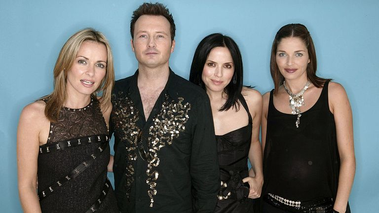The Corrs were big in the 1990s (L-R): Caroline, Jim, Andrea and Sharon