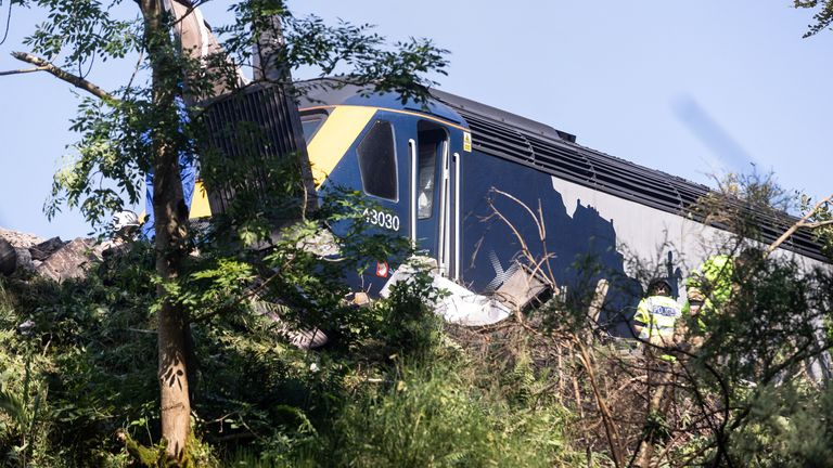 Three people are believed to have died after the train derailed