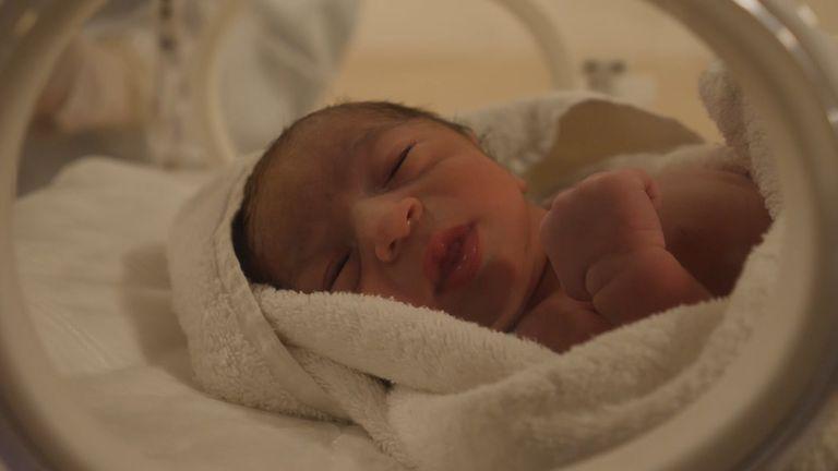 This newborn is already a COVID suspect